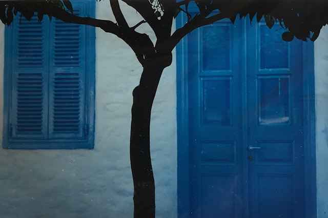 House with Blue Doors... by  Nancy Noble Gardner - Masterpiece Online