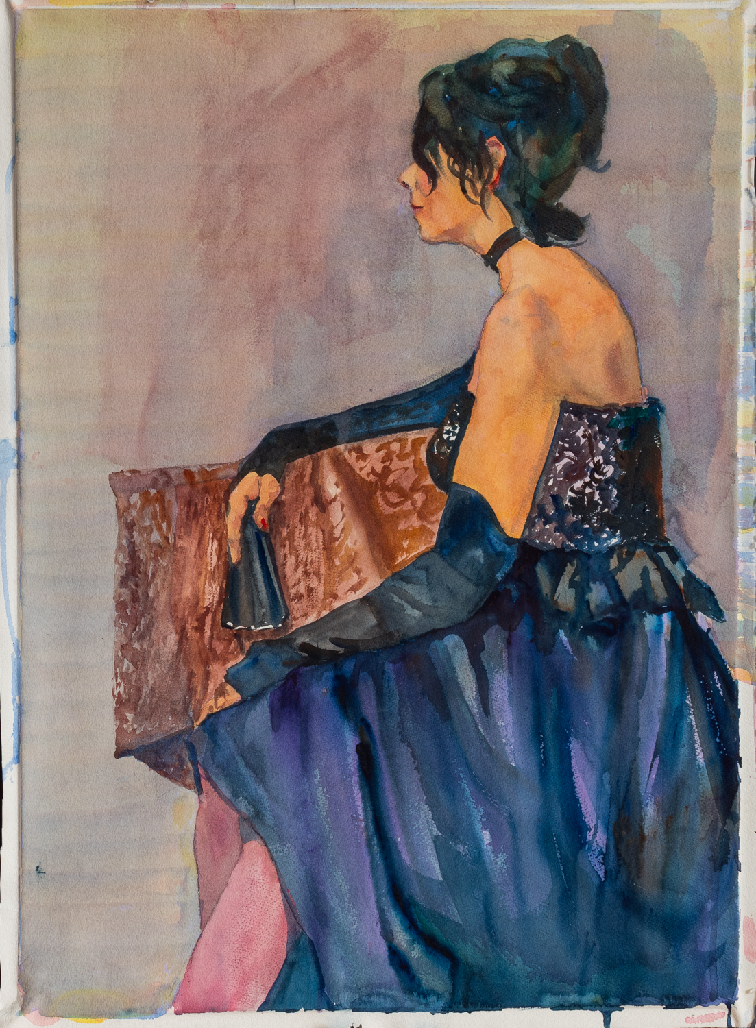 Profile of a Lady wit... by  William Sherman - Masterpiece Online
