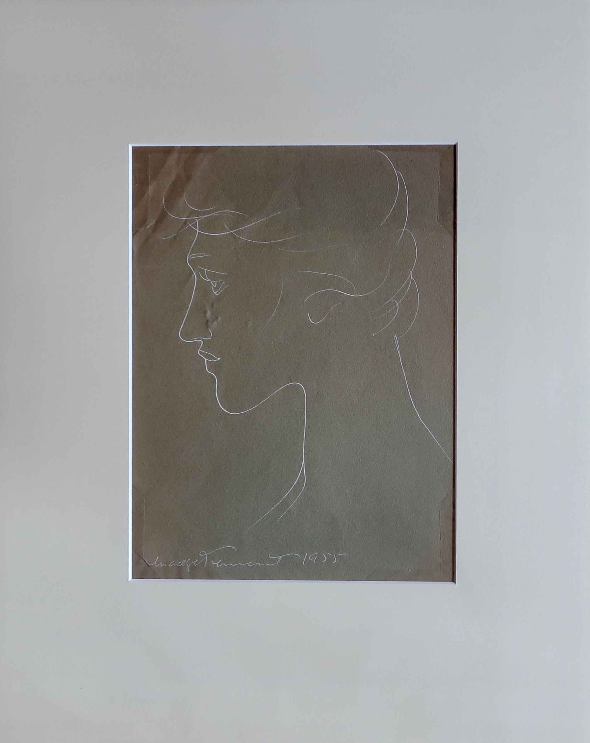 Female Face 5, Line D... by  Madge Tennent (1889-1972) - Masterpiece Online