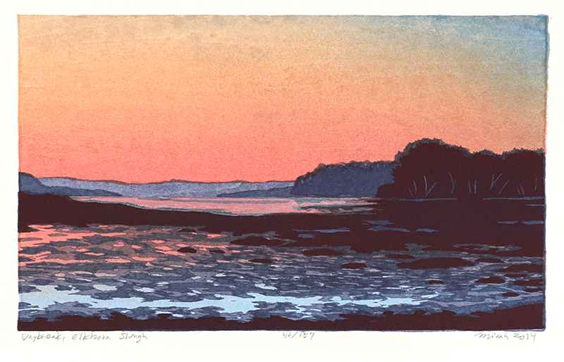 Daybreak, Elkhorn Slo... by  Micah Schwaberow - Masterpiece Online