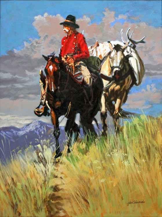 SOLD- Deer Trail by  Glen Edwards - Masterpiece Online
