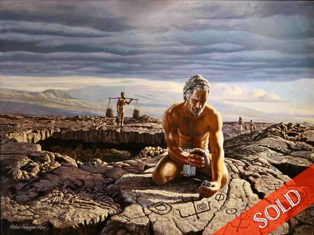 Petroglyph Maker by  Herb Kawainui Kane (1928-2011) - Masterpiece Online