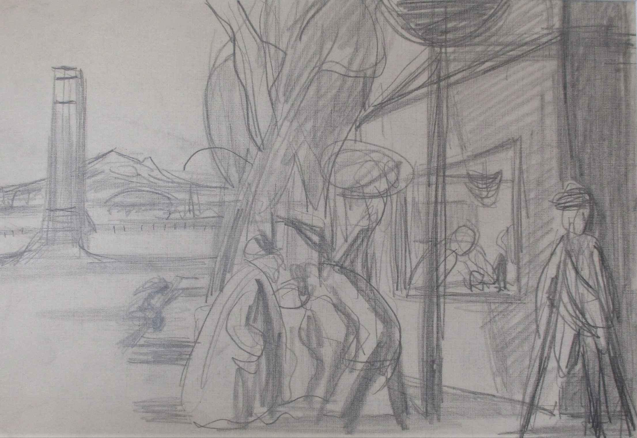 Street Scene and Hawt... by  Jack McLarty - Masterpiece Online